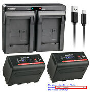 Kastar F780 Battery Dual Charger For Sony Np-f770 Sony Gv-d800 Gv-d900 Gv-hd700e