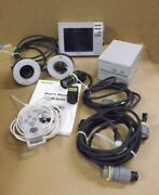 Keyence Cv-751 With Cameras, Lamp Power Supplies, Hand Controll And Owners Manua