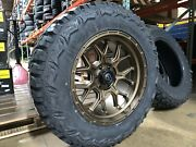 20x10 Fuel D671 Tech Bronze 35 Mt Wheel And Tire Package 6x5.5 Toyota Tacoma