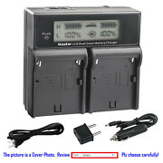 Kastar Battery Lcd Dual Fast Charger For Sony Np-f960 Gv-d800 Gv-d900 Gv-hd700e