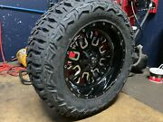 20x10 Fuel D611 Stroke 35 Mt Wheel And Tire Package 8x170 Ford Super Duty F250