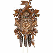 Original German Cuckoo Clock 8-day-movement Carved-style 50cm By Hekas