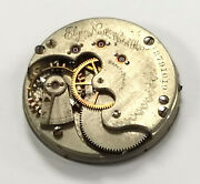 Vintage Elgin Pocket Watch Movement 15 Jewel Grade 67 As Is Parts Only