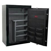 Heavy Duty Gun Safe Cabinet Protect Children Security Capacity 40 Long Rifle Bow