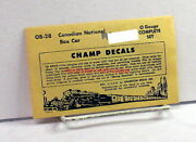Champo-scale Decalsob-28canadian National/cnbox Caroop