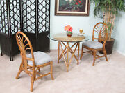 Rattan Bistro Dining Room Furniture 3 Piece Set Chairs And Table