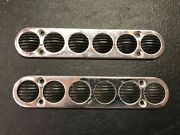 7.25x1.5andrdquo Bayliner Rubber/chrome Step Pad Set Of 2 1980andrsquos M74-5