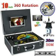 360° Rotation Hd 10 Wifi Pipe Sewer Inspection Video Camera Support Android/ios