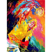 Power Serve By Leroy Neiman Serigraph 1981 Signed Numbered And Framed - Tennis