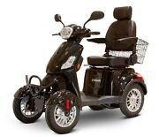 Black 4 Wheel Powerful Scooter Ewheels Ew-46 400 Lb Cap Led Console And Lights