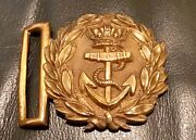 Victorian 1837-1901 British Royal Navy Officer's Minty Belt Buckle W/o Side