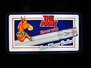 New Vtg Coors Light Beer U.s. Army Mule Mascot Can In Motion Usa Bar Pub Sign A+