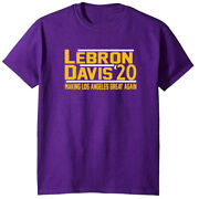 Lebron James Anthony Davis Ad The Brow Lakers 2020 T-shirt