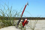 Telescopic  Fiberglass Fishing Rod And Reel Combo By Ftusa