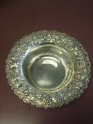 Baltimore Repousse Sterling Silver Deep Bowl By A.g. Schultz And Co.