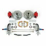 Mustang Ii 11in Hp Big Brake Conversion Stock Spindles 5x4.5red Calipers