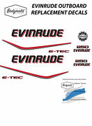Evinrude E-tec 250hp Outboard Replacement Decals For White Cowl