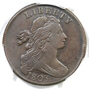 1803 S-259 R-4 Pcgs Vf 25 Sm Date Lg Frac Draped Bust Large Cent Coin 1c