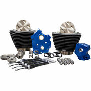 Sands Gear Drive 124 Big Bore Power Package Kit All Black Harley M8 Oil-cooled