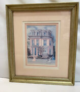 Old Charleston Victorian Pink House Art Spring Morning Signed Bonnie Holden