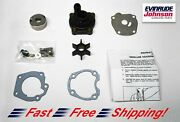 Johnson Evinrude Oem Water Pump And Impeller Kit 389980 Brp/omc W Housing