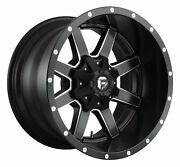 Four 4 24x10 Fuel Maverick Et 1 Black Milled 6x135 Wheels Rims