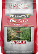 Pennington One Step Grass Seed For Sun And Shade Mulch Plus Fertilizer 10