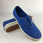 Authentic Overwashed Nautical Blue/true White Menand039s Skate Shoes Size 11.5
