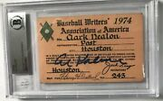 1974 Al Kaline 3000 Hit Ticket Pass Signed Bas Coa Writers Detroit Tigers