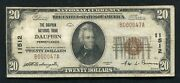1929 20 The Dauphin National Bank Duphin, Pa National Currency Ch. 11512