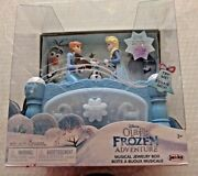 New Disney Olafand039s Frozen Adventure Musical Jewelry Box Anna And Elsa Move To Music
