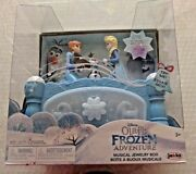 New Disney Olaf's Frozen Adventure Musical Jewelry Box Anna And Elsa Move To Music
