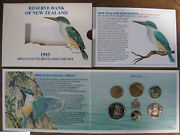 New Zealand - 1993 - Brilliant Uncirculated Coin Set- Kingfisher