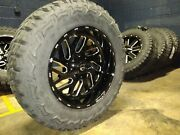 20x10 Fuel D581 Triton 35 Mt Wheel And Tire Package 8x170 Ford F250 F350 Tpms