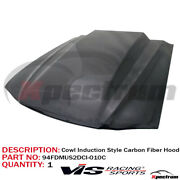 Vis Racing [cowl Induction Style] Carbon Fiber Hood Fit 1994-1998 Ford Mustang
