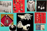 New Lot 72+ Pc Fine Jewelry Peruvian Silver /gold 18k/stones Assorted = 600 Grms