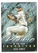 Josh James 2019 Bowman Chrome Mega Box Roy Favorites Refractor Rc Royf17 Astros