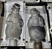 Snowman With Cane Christmas Blow Mold For Plastic Molds