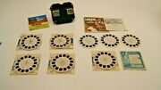 Vintage View Master Viewer And Reels Lot - Lassie And Timmy Cisco Kid Hawaii +more