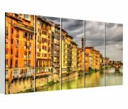 Canvas Picture 5pic Xxl Tuscany Italy City Skyline Canvas Picture Image 9bm404
