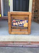 Vintage Wood Wooden Slatted Fruit Crate Box Pasque Yuma Melons Produceof Usa