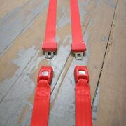 Two Point Red Lap Seat Belts Pair Hot Street Rat Rod Parts Accessories Hotrod Wj