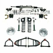 Mustang Ii 2 Ifs Kit With Power Steering For 55-57 Chevy Bel Air Front Suspensio