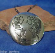 Hopi Sterling Silver Pendant-style Necklace By Gary And Elsie Yoyokie C.1990