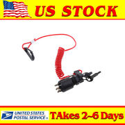 Oem Ignition Switch And Lanyard 5005801 175974 For Omc Brp Johnson Outboard Motor
