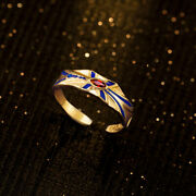 Anime Fate/stay Night Fate/zero Gilgamesh 925 Sterling Silver Ring Cosplay Gold