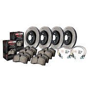 Stoptech Disc Brake Pad And Rotor Kit For 1989 - 1990 Nissan 300zx