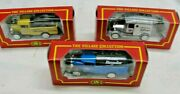 Set Of 3 Amoco Toy Metal Trucks By Cameo W/ Boxes The Village Collection Corgi
