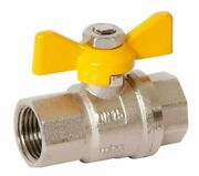 Dura Eagle Ball Valve Butterfly Handle Gas Female And Female Brass- 15mm Or 20mm