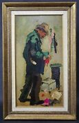 Antique Charles Wilton Listed 1837-1947 Original Oil Painting On Canvas